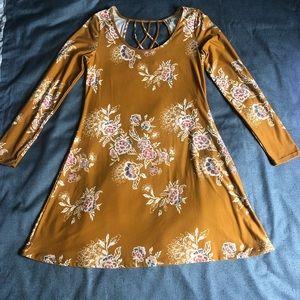 Mudd Long Sleeve Floral Dress